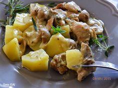Tante Kiki: Κοτόπουλο α λα κρεμ σε light εκδοχή... σε μισή ώρα! Easy Cooking, Potato Salad, Pork, Potatoes, Ethnic Recipes, Sweet, Pork Roulade, Pigs, Easy Recipes