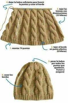 "diy_crafts-Gorro ""Baby Aviator Hat PDF Knitting Pattern Cabled by LoveFibres"", "" \""By: Brazil Knitting & Crochet\"", \""Gorro com tran ças\"", \"" Bonnet Crochet, Crochet Baby, Knit Crochet, Knitting Stitches, Baby Knitting, Knitting Projects, Crochet Projects, Knitting Patterns, Crochet Patterns"