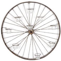 Votive Bicycle Wheel Wall Art Candle holder
