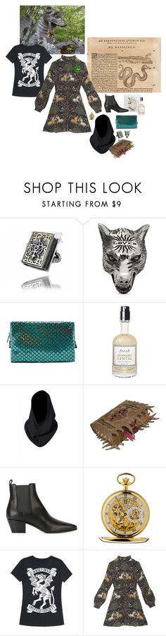 """21st-century cryptozoologist"" by anglepoise ❤ liked on Polyvore featuring Gucci, Forever 21, Fresh, Topshop and Yves Saint Laurent"