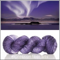 Night Auroras - pearlescent worsted yarn by expression fiber arts - rich tonal purple