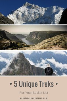 5 unique hikes that are bucket list worthy. You'll find these treks in Canada, Nepal, Peru, Australia and China.