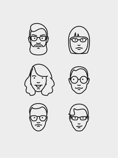 Line Drawings / mkn design – Michael Nÿkamp. If you would like to be iconized –… Face Illustration, Simple Illustration, Illustrations, Character Illustration, Digital Illustration, Icon Design, Web Design, Ligne Claire, You Draw