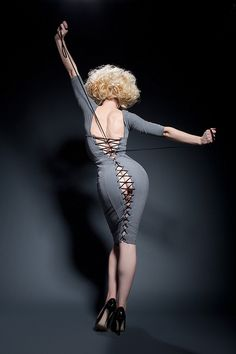 Laurie Hagen wearing the Agent Provocateur Thora dress by Confessions of a Cinematographer, via Flickr