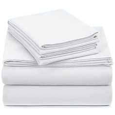 Queen Flannel Sheet Set Cotton Velvet Pillowcase Fitted Flat Soft Warm Bed Cover #FlannelSheetSet #Luxurious