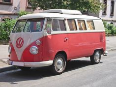 Volkswagen Bus. My step-dad Gary has a blue one...I keep telling him that he's going to give it to me one day.