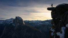 A hiker basks in the early morning light on a hike up Glacier Point in Yosemite National Park. Want more photos? Visit Chris? website, Chris Burkard Photography, to see more eye-catching photography.