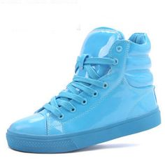 Aliexpress.com : Buy 2013 High shoes candy color japanned leather casual shoes sport shoes on NO.119 Woman Store. $28.50