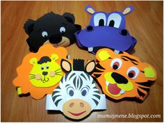 "Gorritos para fiesta infantil: ""Animalitos fiesteros"" 