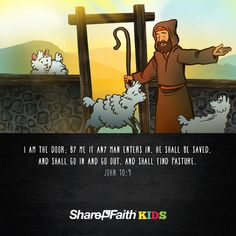 I am the Door Kids Bible Scripture (John 10:1-10): Part three of the Sharefaith Kids I AM lesson series, I am the Door brings to life the astounding safety and security that is found in Jesus. Using the imagery of a sheepfold, and a loving Shepherd, this John 10 Kids Bible lesson shows how Jesus places his life between us and any danger we face. Packed with resource like Q&A, Memory Verse and Big Idea this I am the Door Sunday School lesson is not to be missed.