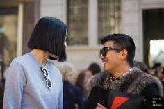 STYLE DU MONDE / Milan Fashion Week FW 2014 Street Style: Eva Chen & Bryanboy  // #Fashion, #FashionBlog, #FashionBlogger, #Ootd, #OutfitOfTheDay, #StreetStyle, #Style