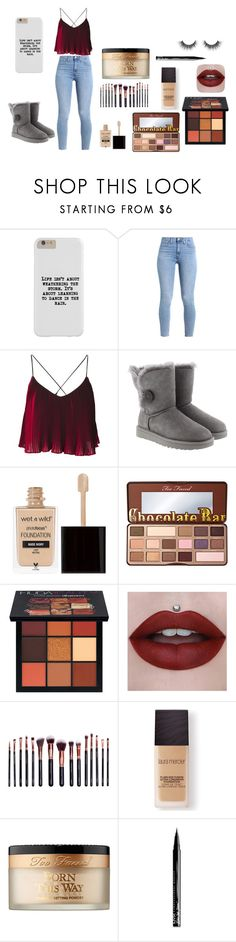 """""""Untitled #23"""" by emmalovesbooks2 ❤ liked on Polyvore featuring UGG, Wet n Wild, Too Faced Cosmetics, Huda Beauty, M.O.T.D Cosmetics, Laura Mercier and NYX"""