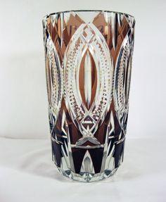 Val Saint Lambert crystal vase. H 26 cm