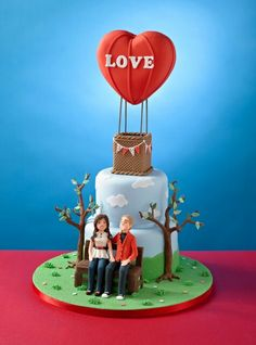 My Valentines Cake - 'Love is in the air' made for @Noéline Ménini Hartel Baking