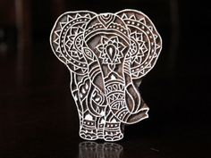 Textile Stamp, Pottery Stamp, Indian Wood Stamp, Tjaps, Blockprint Stamp, Printing Stamp Blocks- Elephant by charancreations on Etsy https://www.etsy.com/listing/248751546/textile-stamp-pottery-stamp-indian-wood