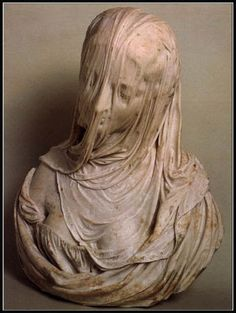 I don't know where this sculpture is located, but I would love to see it. It is not only beautiful but so intriguing as to how Corradini accomplished the veiling. Bust of a Veiled Woman (Puritas), by Antonio Corradini Under The Veil, Art Sculpture, Bernini Sculpture, Outdoor Sculpture, Wow Art, Art History, Amazing Art, Sculpting, At Least