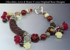 Chocolate Love and RosesArtisan Lampwork truffles by originalrose, $95.00