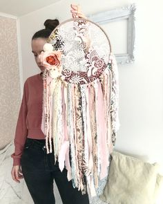 45 Stunning Dream Catcher Ideas For Home Decoration home decoration dream catche. - 45 Stunning Dream Catcher Ideas For Home Decoration home decoration dream catcher home decor ideas - Doily Dream Catchers, Dream Catcher Decor, Dream Catcher Boho, Diy Presents, Diy Gifts, Cute Crafts, Diy And Crafts, Diy Tumblr, Blue Dream