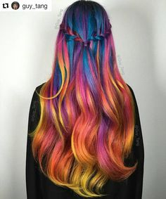 Blue flame hair by Guy Tang. He's a hair genius. Guy Tang Hair, Flame Hair, Lavender Hair Colors, Hair Colours, Coloured Hair, Coloured Braids, Bright Hair, Colorful Hair, Pastel Hair