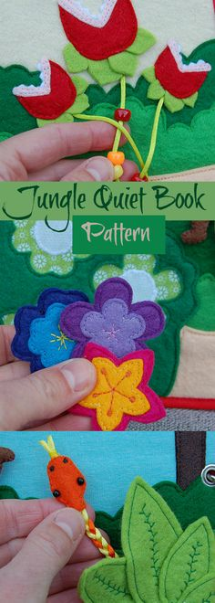 PATTERN & TUTORIAL 2 Quiet book pages Piratebook - Jungle #quietbook #affiliate