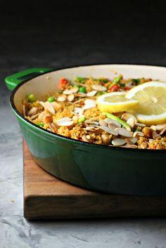 Spring Vegetable Quinoa Paella ~vegan, gluten free~