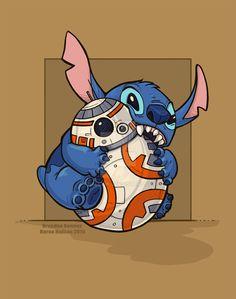 Star wars and stitch Disney Stitch, Lilo Stitch, Stitch 2, Disney Love, Disney Magic, Disney Art, Disney Star Wars, Disney And Dreamworks, Disney Pixar