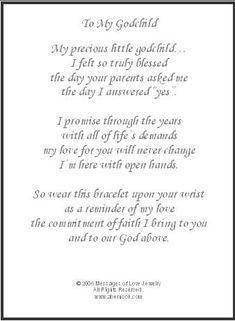 To My Godchild, Godchild Gift