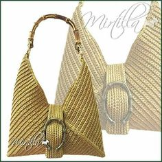 For the majority of ladies, getting an authentic designer bag isn't something to hurry into. Because they hand bags can - Salvabrani Geometric hobo bag - no patter Crochet Shell Stitch, Bead Crochet, Crochet Handbags, Crochet Purses, Crochet Bags, Leather Drawstring Bags, Leather Bag, Handmade Handbags, Handmade Bags