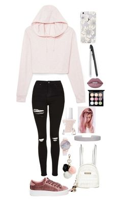 """""""Untitled"""" by xx-rainbowtoast-xx ❤ liked on Polyvore featuring GUESS, Steve Madden, Topshop, River Island, Humble Chic, Kate Spade, Essie, MAC Cosmetics, Lime Crime and T3"""
