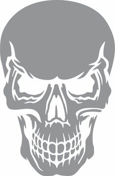 Glass etching stencil of Skull with Angry Expression. In category: Culture Glass etching stencil of Skull with Angry Expression. In category: Culture Pin: 262 x 400 Skull Stencil, Stencil Art, Camo Stencil, Stenciling, Transférer Des Photos, Angry Expression, Glass Etching Stencils, Skull Artwork, Skull Art