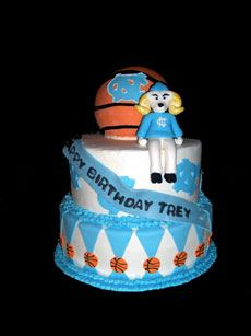 UNC Basketball Birthday Party by Cake~n~Bake, via Flickr