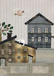 Yoko Saito's Mystery Quilt - video 1/2 and 2/2  I like the cat on the roof.....
