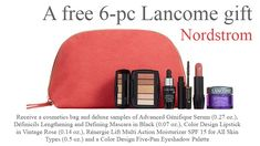 Yours with any $45 purchase at Nordstrom - online only. Lancome Gift Set, Lancome Gift With Purchase, Vintage Roses, Cosmetic Bag, Nordstrom, Lipstick, Cosmetics, Gifts, Toiletry Bag
