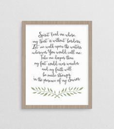 Spirit Lead Me where My Trust is without borders  Hillsong United art by WandererCreative, $8+ on Etsy