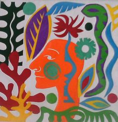 Into the New Jungle Matisse Inspired Collage by PegBessie on Etsy, £50.00 collage art cut outs