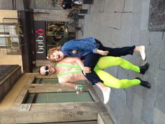 Willy Wonka meets Borat Fancy Dress  & Random Me Julie - Stag Barcelona