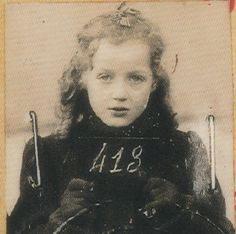 The spirit of bureaucracy.  --  Anny-Yolande Horowitz    Born on June 2, 1933 in Strasbourg.  Last lived at 21, rue Rode, Bordeaux.  Interned in the Lalande camp near Tours and then transferred to Drancy.  From there, she, her mother Frieda, and her sister Paulette, age 7, were deported on Sept. 11, 1942 on Convoy 31.  Their destination: Auschwitz-Birkenau.    The Vichy Regime  (July 1940-August 1944).