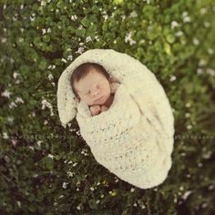 Newborn outside by Wildflowers Photography