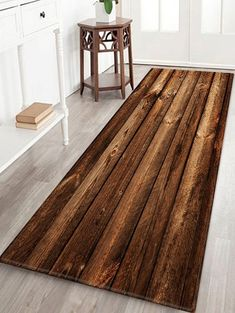Joint Wood Board Pattern Non-slip Floor Area Rug