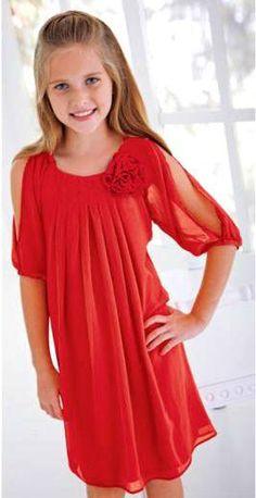Cream sz 7 red rosette chiffon dress christmas nwt more dress shops