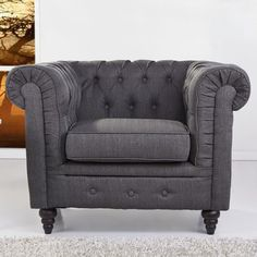 Found it at Wayfair Supply - Arlington Club Chair Chesterfield Chair, Upholstery Sale, Chair, Furniture, Tufted Arm Chair, Club Chairs, Living Room Seating, Accent Chairs, Chair Upholstery