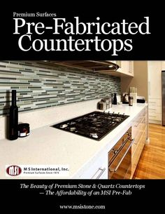 Check out the latest in Pre-Fabricated Countertops! We offer over 90 granite, quartz, marble, and limestone options, including 15 brand new Q Premium Natural Quartz colors.