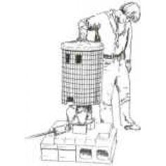 Bracker's Complete Raku Kiln Kit - Image 1 Raku Kiln, Garbage Can, Leather Gloves, Pottery, Kit, Cool Stuff, Cage, 1970s, Shelf