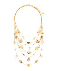 Five-Row Illusion Necklace-Gabrielle K New York-Featured Brands-Watches &…