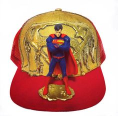 Superman Collectible Snapback Cap by MindsEyeCaps on Etsy Plastic Mesh 38d199b1969