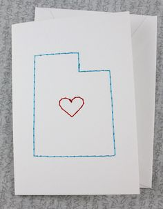 Utah State stitched card.