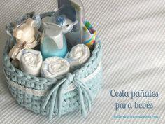 Regalo para bebés: cesta de pañales handmade | el taller de las cosas bonitas
