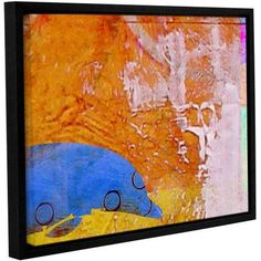 Greg Simanson Dolphin Floater-Framed Gallery-Wrapped Canvas, Size: 18 x 24, Blue