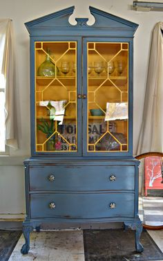 Heir and Space: An Antique Cherry Hutch