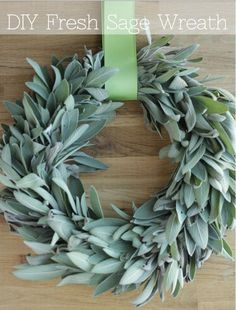 Sage's soft green hue makes it a perfect accent for understated holiday wreath.